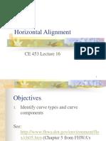 16 Horizontal Alignment