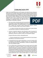 Comunicado FPF sobre la cancha del Nacional
