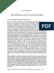 Alex Demirovic - Ende Der Politik