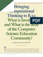 barr stephenson-bringing computational thinking to k-12