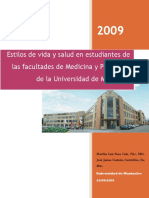 Estilos de Vida en Medicina y Psicología (Cor Martha) 2009