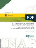 De La Burocracia Al Management Del Management a La Gobernanza