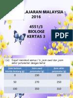 Kertas 3 Biologi 2016