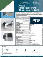 Parabolica UHP - 30cm - 18 GHz - Com Radome Shield