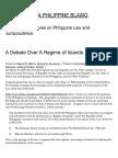 Debate Over Regime of Islands