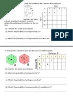 Sample Space Worksheet