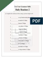 Simple Present -Routines (Worksheet)