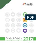 Alpha Bio Tec 2017 Product Catalog
