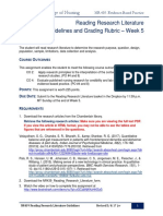 NR439 W5 Reading Research Literature Guidelines