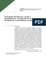 sociologia del deporte, poder y globalizacion. tendencia de la sociologia del deporte en los ultimos 25 años.pdf