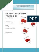 1grupo Sanguíneo y Factor Rh