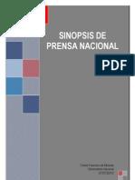 Sinopsis medios impresos 07-07-10