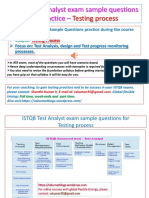 ISTQB ATA [Advanced Test Analyst] certification exam  Practice Questions for Testing Process