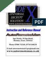 CodeX User Manual 02 2011