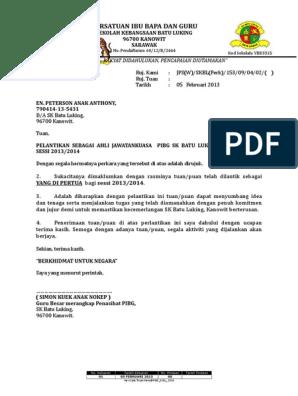 Contoh Surat Perlantikan Ajk Doc