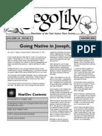 November-December 2001 Sego Lily Newsletter, Utah Native Plant Society