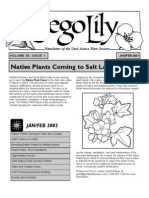 January-February 2002 Sego Lily Newsletter, Utah Native Plant Society