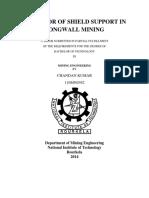 Behavior of Shield Support in Longwall Mining