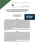 Kebijakan Politik Luar Negeri Indonesia Masa Kabinet Djuanda (1)