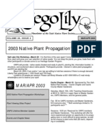 March-April 2003 Sego Lily Newsletter, Utah Native Plant Society