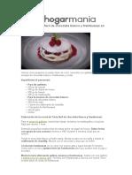 Receta de Tarta Fácil de Chocolate Blanco y Frambuesas en Cocina Abierta
