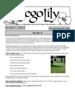 November-December 2004 Sego Lily Newsletter, Utah Native Plant Society