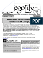 May-June 2004 Sego Lily Newsletter, Utah Native Plant Society