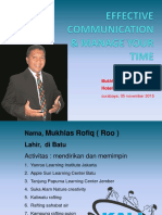 Effective Communication & Manage Your Time Hotel Bumi