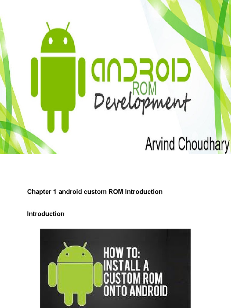 Android Rom Customization   Android (Operating System)   Device Driver