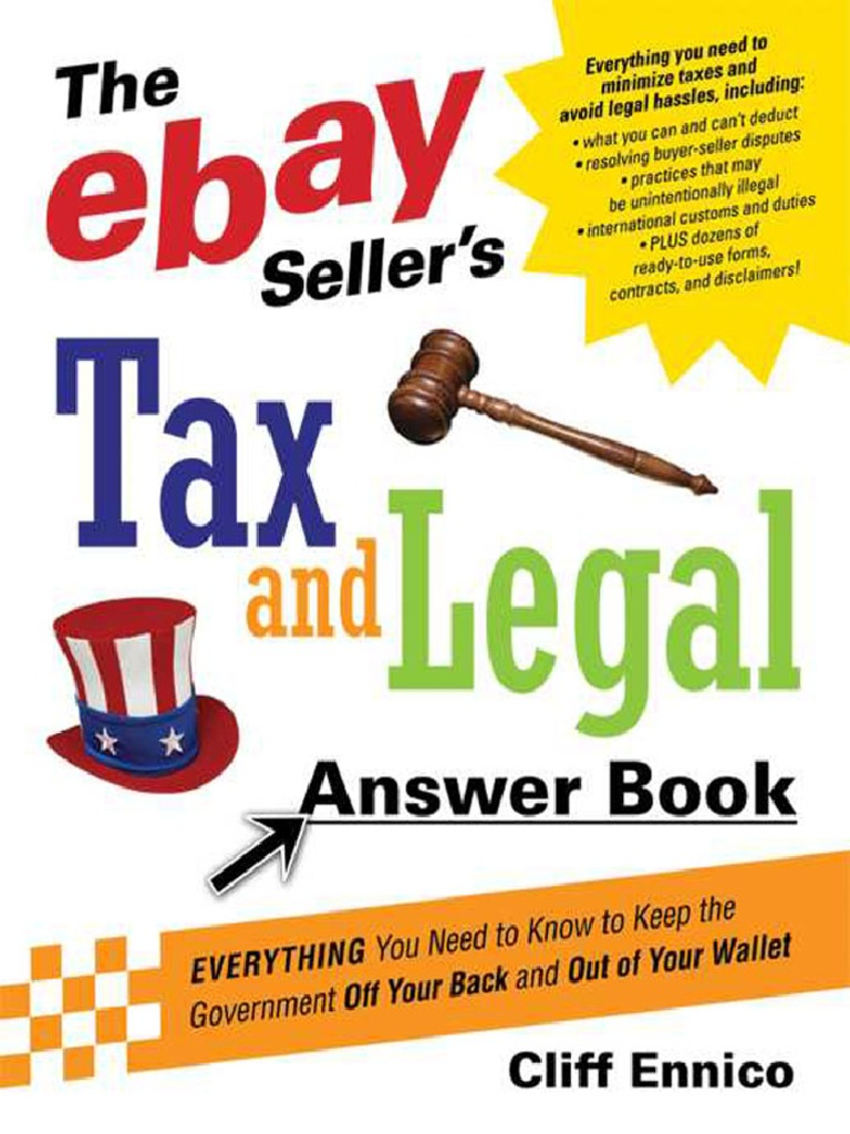 Cliff Ennico] the EBay Seller's Tax and Legal Ans777   E Bay   Sales