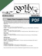 March-April 2005 Sego Lily Newsletter, Utah Native Plant Society