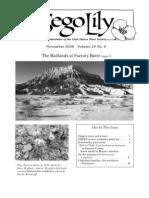 Nov-Dec 2006 Sego Lily Newsletter, Utah Native Plant Society