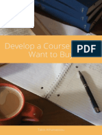 Develop a Course People Want to Buy