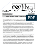 July-August 2006 Sego Lily Newsletter, Utah Native Plant Society