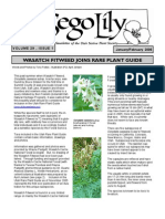 January-February 2006 Sego Lily Newsletter, Utah Native Plant Society