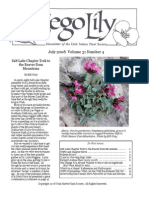 July-August 2008 Sego Lily Newsletter, Utah Native Plant Society