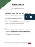 Spesifikasi Teknis gedung Balai Nikah