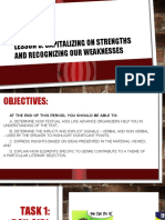 Module 1 Lesson 3 Capitalizing on Strengths and Recognizing Weaknesses