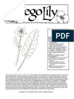 July-August 2009 Sego Lily Newsletter, Utah Native Plant Society