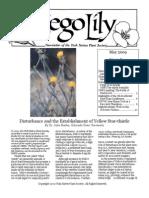 May-June 2009 Sego Lily Newsletter, Utah Native Plant Society