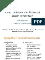 Obat Tradisional Dan Fitoterapi Sistem Pencernaan