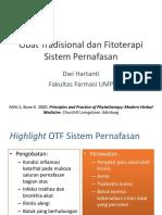 Obat Tradisional Dan Fitoterapi Sistem Pernafasan