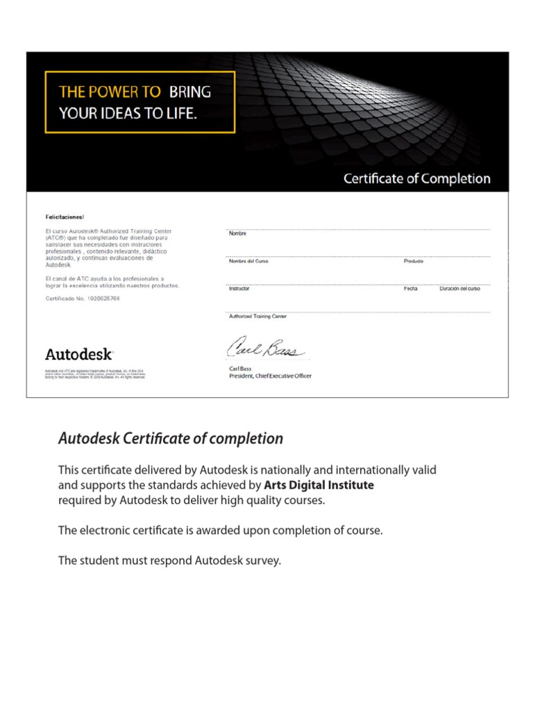 Certificados autodesk oct 2012 en 1betcityfo Image collections