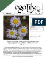 January-February 2010 Sego Lily Newsletter, Utah Native Plant Society