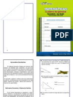Matemáticas. Cuaderno de ejercicios. Secundaria. 3er Grado