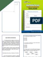 Matemáticas. Cuaderno de ejercicios. Primaria. 4to Grado