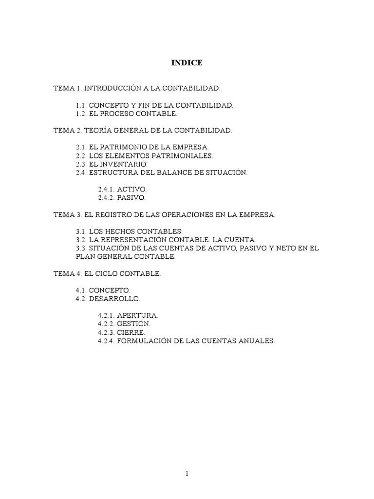 Temario Contabilidad General 23 Pgs