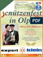Olper Schützenfest 2017 Zeitungsbeilage WP WR