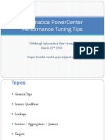 Informatica PowerCenter Performance Tuning Tips