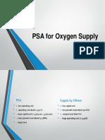 PSA for Oxygen Supply